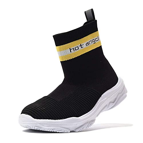69391cf9191d1 hot angcl Kid Walking Sport Shoes Fashion Knitted Socks Comfortable  Lightweight Breathable Sneakers Boys Girls (