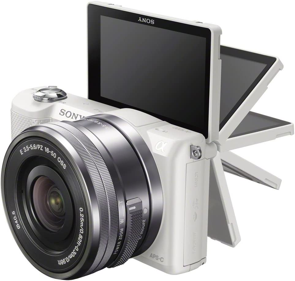 Sony ILCE-5000L - Cámara Evil de 20.1 MP (Pantalla articulada 3 ...