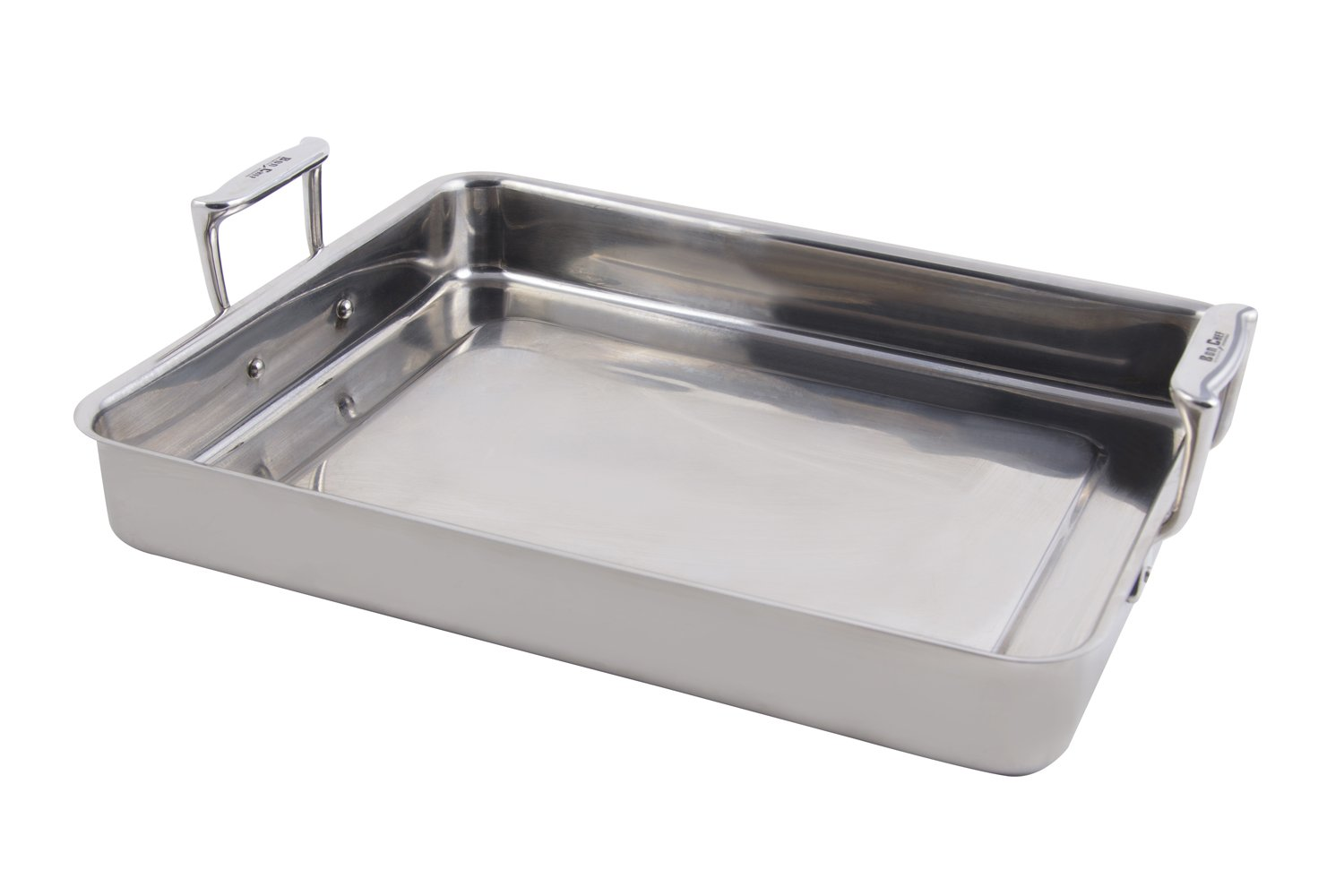 Bon Chef 60012 Stainless Steel Cucina Large Food Pan with Handles, 5 quart Capacity, 14-5/8'' Length x 11-7/8'' Width x 2-1/4'' Height by Bon Chef