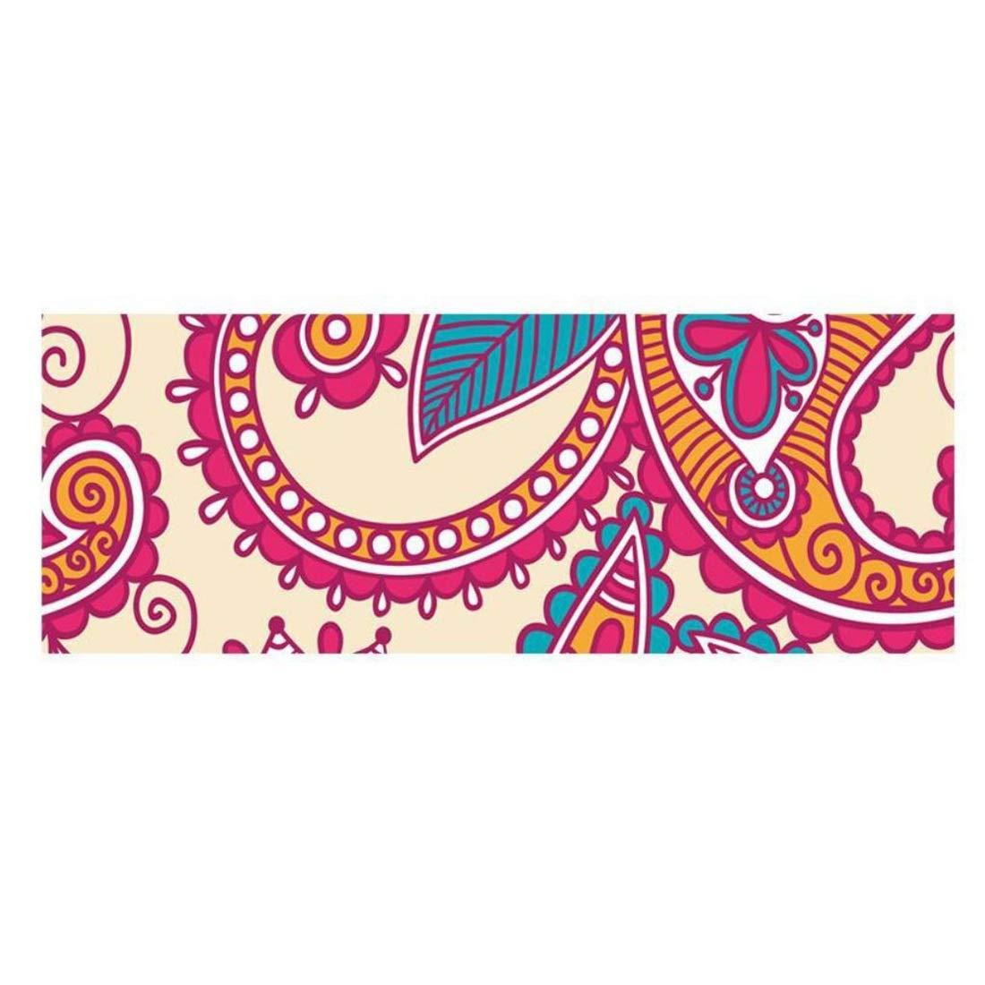 Koloeplf ピラティス/エクササイズ/体操マットワイドノンスリップ折りたたみラバーフィットネスマット (Color : H) B07M8F3QYG B B