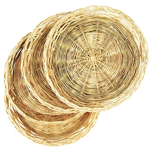 Holder Rattan - Fox Run 5493 Bamboo Paper Plate Holders, Brown