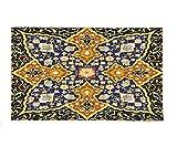 Interestlee Fleece Throw Blanket Arabian Decor Collection Detailed Arabic Islamic Floral Mosaic Patterns Eastern Antique Oriental Persian Artwork Multi