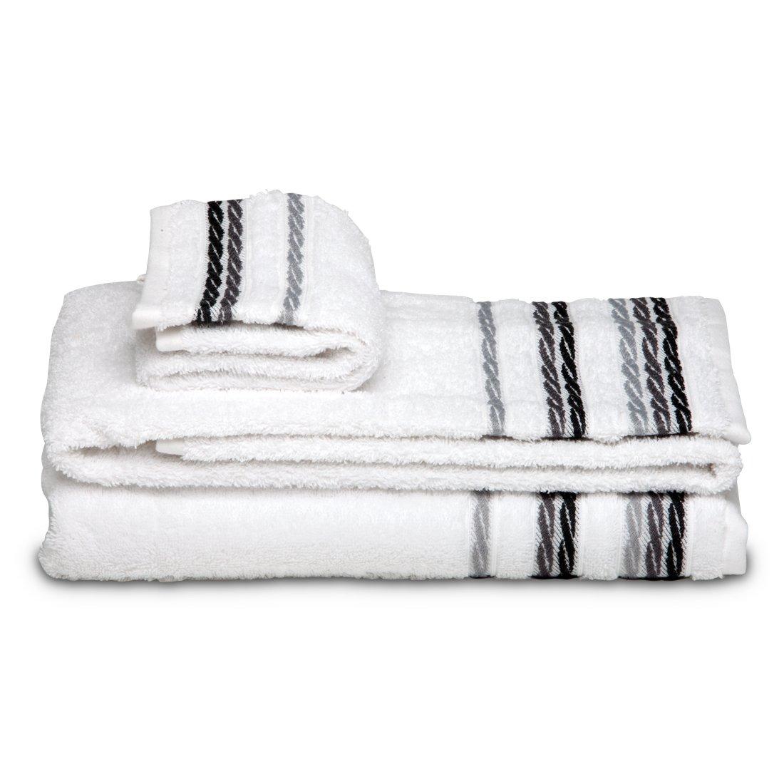 Burrito Blanco - Juego de toallas 98 Blanco de 30x50, 50x100 y 70x140 cm: Amazon.es: Hogar