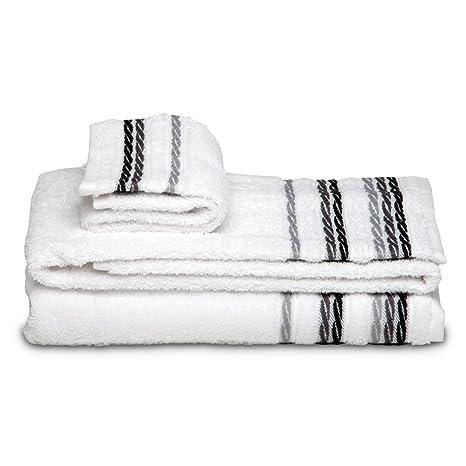 Burrito Blanco - Juego de toallas 98 Blanco de 30x50, 50x100 y 70x140 cm