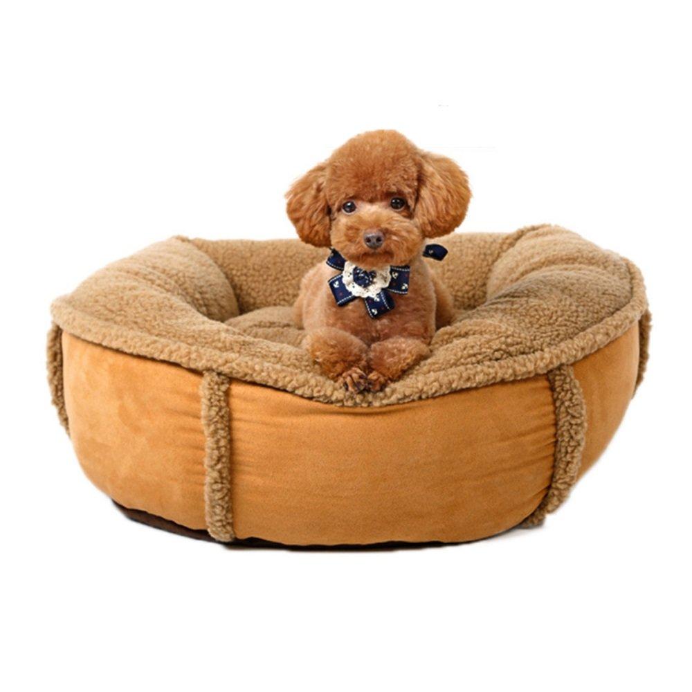 Tlang Removable And Washable Pet Bed Pet Sofa Recliner Bed Strong Breathable Soft Warm Lambskin Pumpkin Nest Kennel Cat Litter Four Seasons Pet Supplies