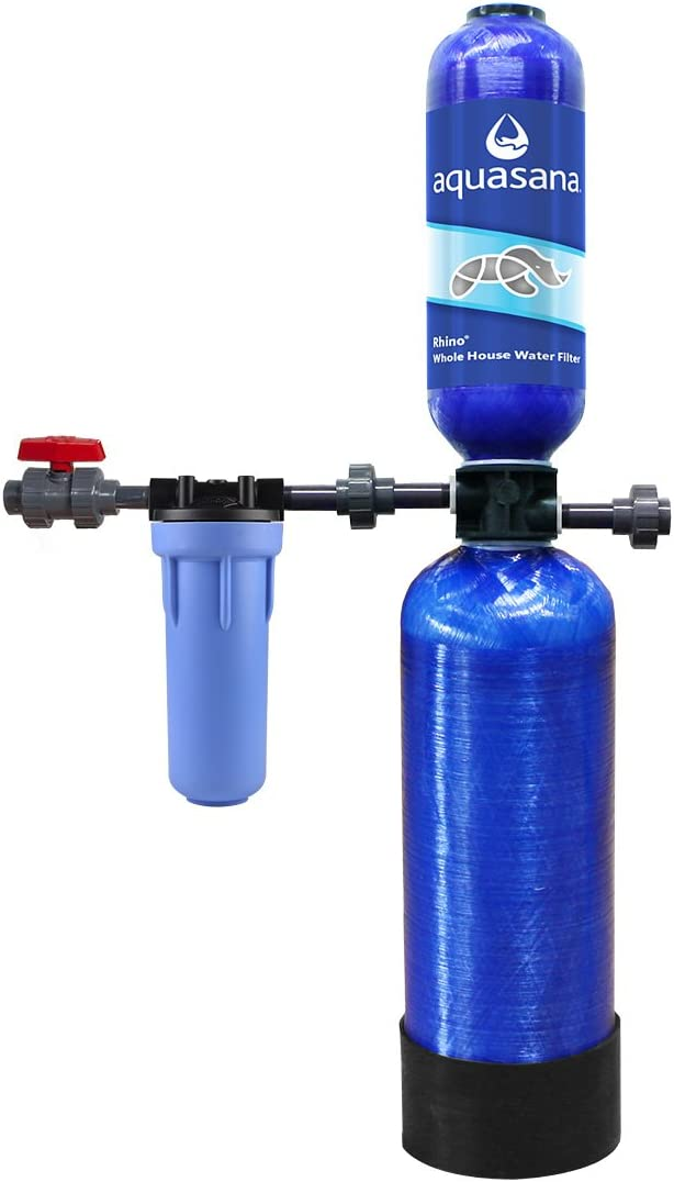 Aquasana Whole House Water Filter System - Filters Sediment & 97% Of Chlorine - Carbon & KDF Home Water Filtration - 6Yr, 600,000 Gl
