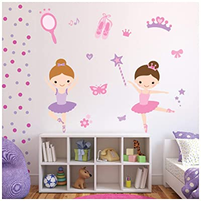azutura Ballerina Wall Sticker Set Ballet Dance Wall Decal Girls Bedroom Nursery Decor Available in 8 Sizes Large Digital: Kitchen & Dining