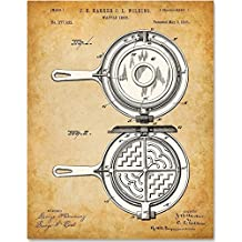 Waffle Iron - 11x14 Unframed Patent Print - Great Gift for Kitchen Decor
