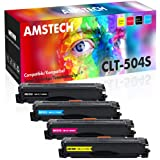 Amstech Compatible Toner Cartridge Replacement for Samsung CLT-K504S Toner Samsung Xpress C1860FW C1810W SL-C1860FW SL-C1810FW CLX-4195FW CLP-415NW Toner Cartridge (Black Cyan Yellow Magenta, 4-Pack)