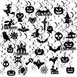 GOER 39 Pcs Halloween Hanging Swirls for Halloween Party Supplies Decorations: more info