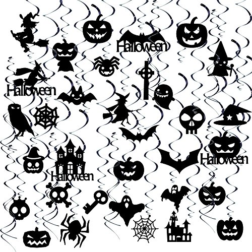 GOER 39 Pcs Halloween Hanging Swirls for Halloween Party Supplies Decorations -