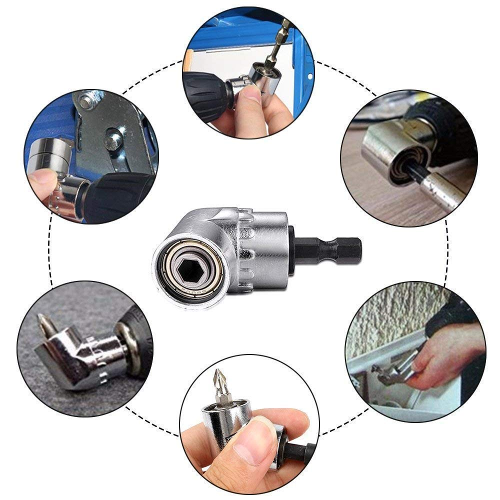 Impact Grade Power Hand Tools Driver Sockets Adapter Extension Set,3pc 1//4 3//8 1//2Cr-V Hex Shank Drill Nut Driver Bit Set,for Cordless Drills Ratchet Extension,Universal Socket Wrench Adapter Set