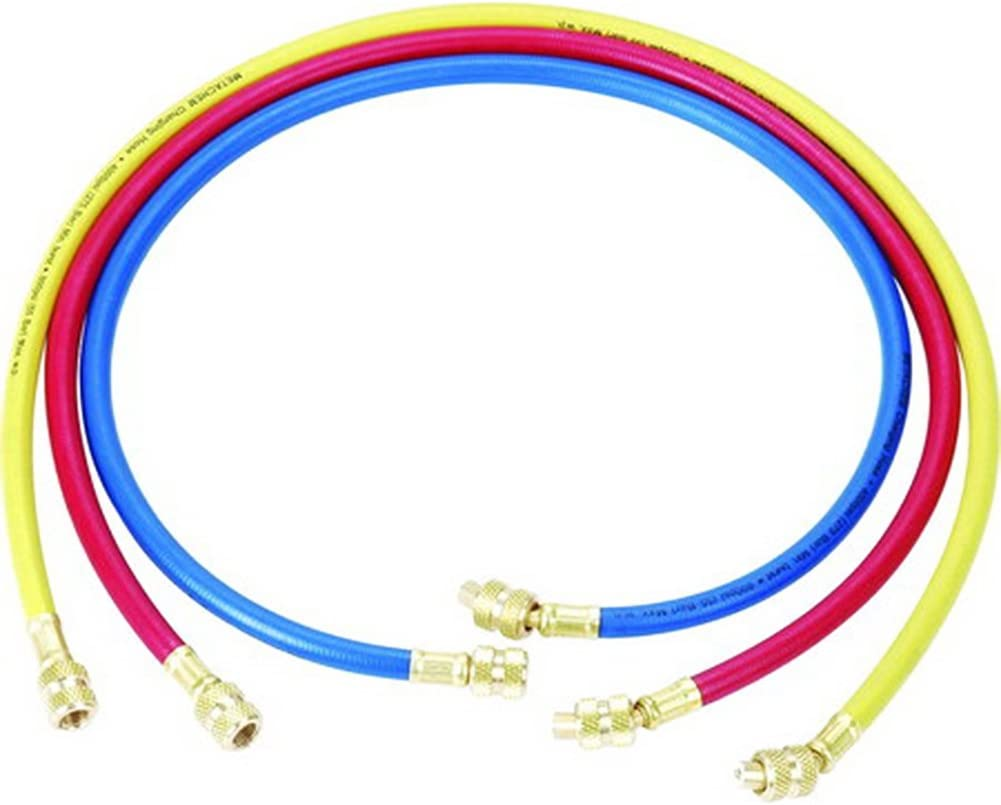 SweetLife professionelles Ladekabel-Set /¼ Zoll SAE auf /¼ Zoll SAE Umweltschutz-Schlauch 3 St/ück f/ür HVAC Klimaanlagen-K/ältemittel 150/cm ca