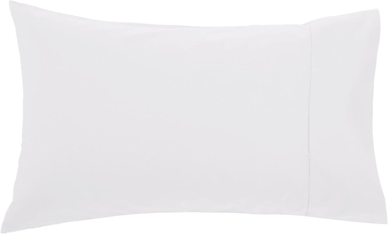 Pinzon 400 Thread Count Egyptian Cotton Sateen Hemstitch Pillow Cases Eggshell King Set of 2