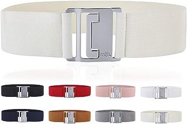 Women's Elastic Belt for Women Wide Fashion Cinch Belt Dress Stretch Waist Belt 2.36