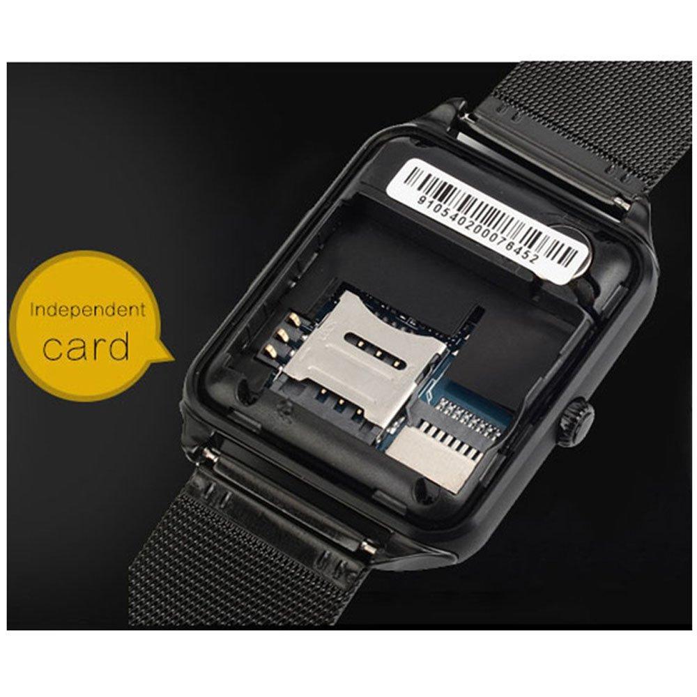 Nadalan Mini Reloj Deportivo Posicionable Inteligente Reloj Del Teléfono: Amazon.es: Relojes