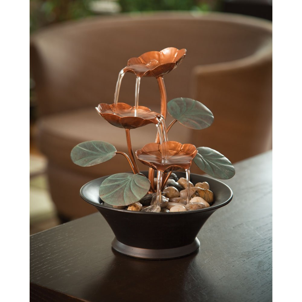 Amazoncom Bits And Pieces Indoor Water Lily Water Fountain Small