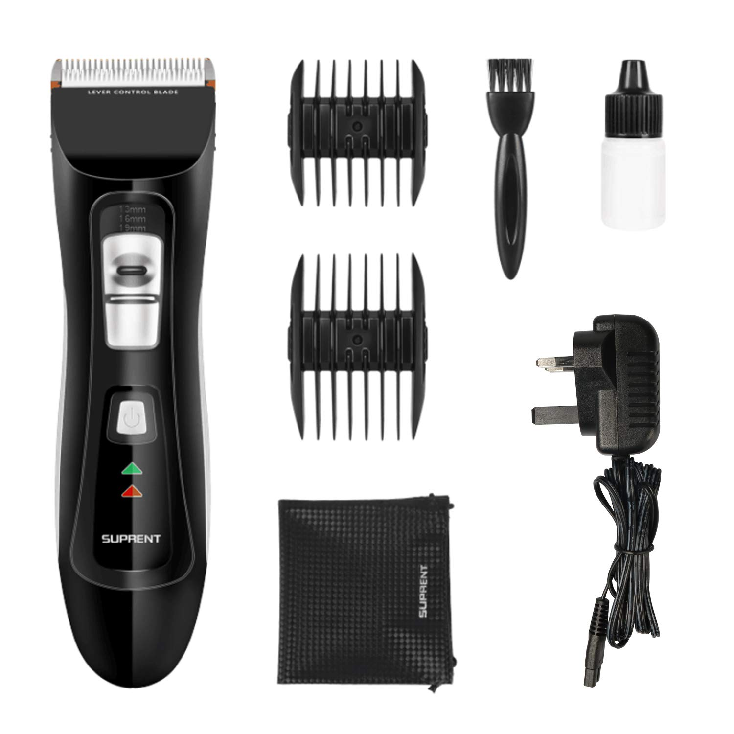 Suprent Cordless Corded Hair Clippers With Titanium Ceramic Blade