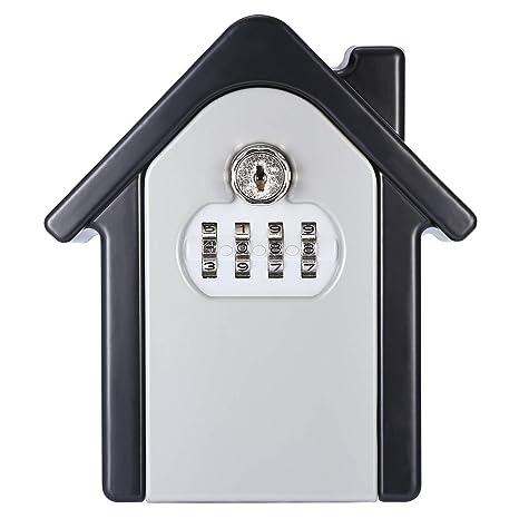 23064cc24b3f Allnice Key Lock Box, Wall Mounted Lock Box with 4-Digit Combination  Resettable Code