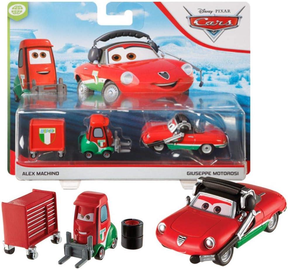 Disney Selección Doble Pack Cars | Modelos Vehículos 2020 | Cast 1:55 | Mattel, Cars Doppelpacks:Alex Machino & Giuseppe Motorosi: Amazon.es: Juguetes y juegos