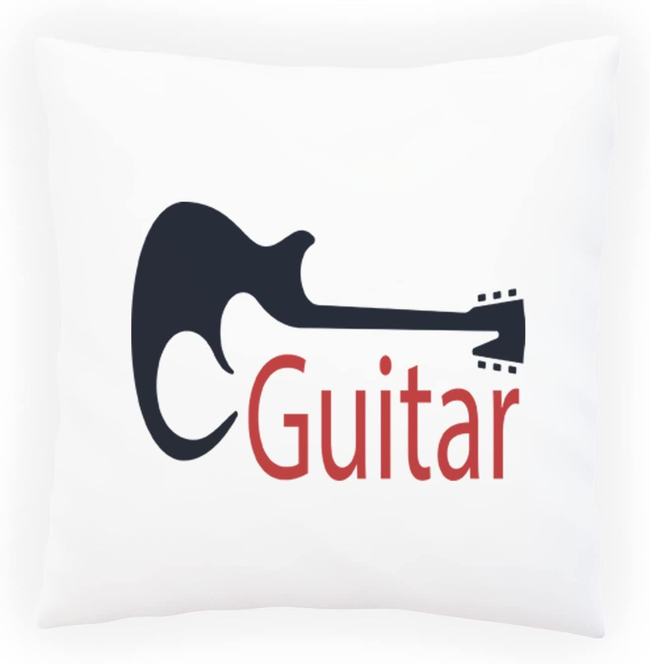 Innoglen New Guitar Logos With Silhouettes Decorative Pillow Cushion Cover With Insert Or Without H669p Amazon Co Uk Kitchen Home