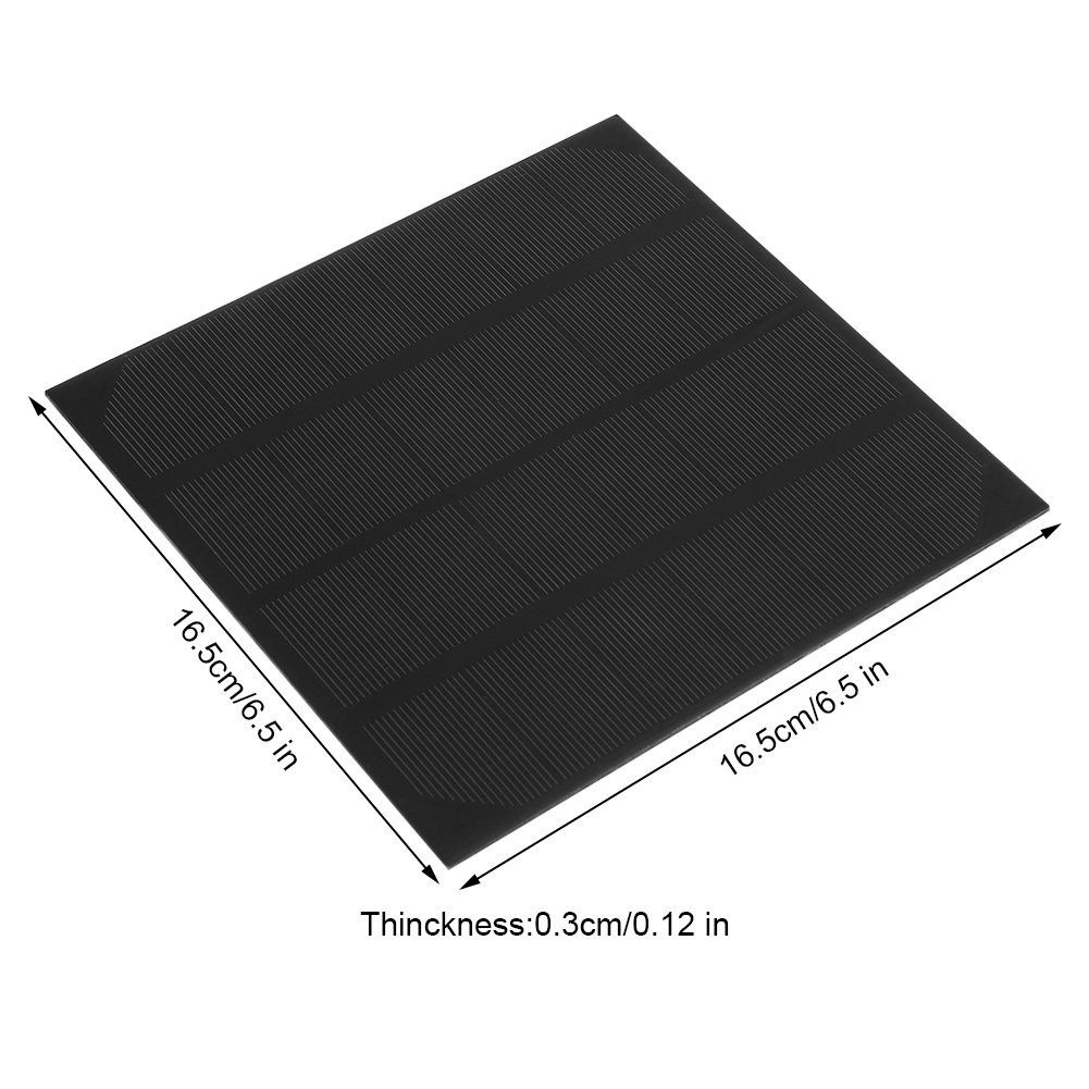 Zerodis 6V 4.5W Protable Monocrystalline Silicon Solar Panel Kit Charger Module for DIY Battery Charger Power Supply