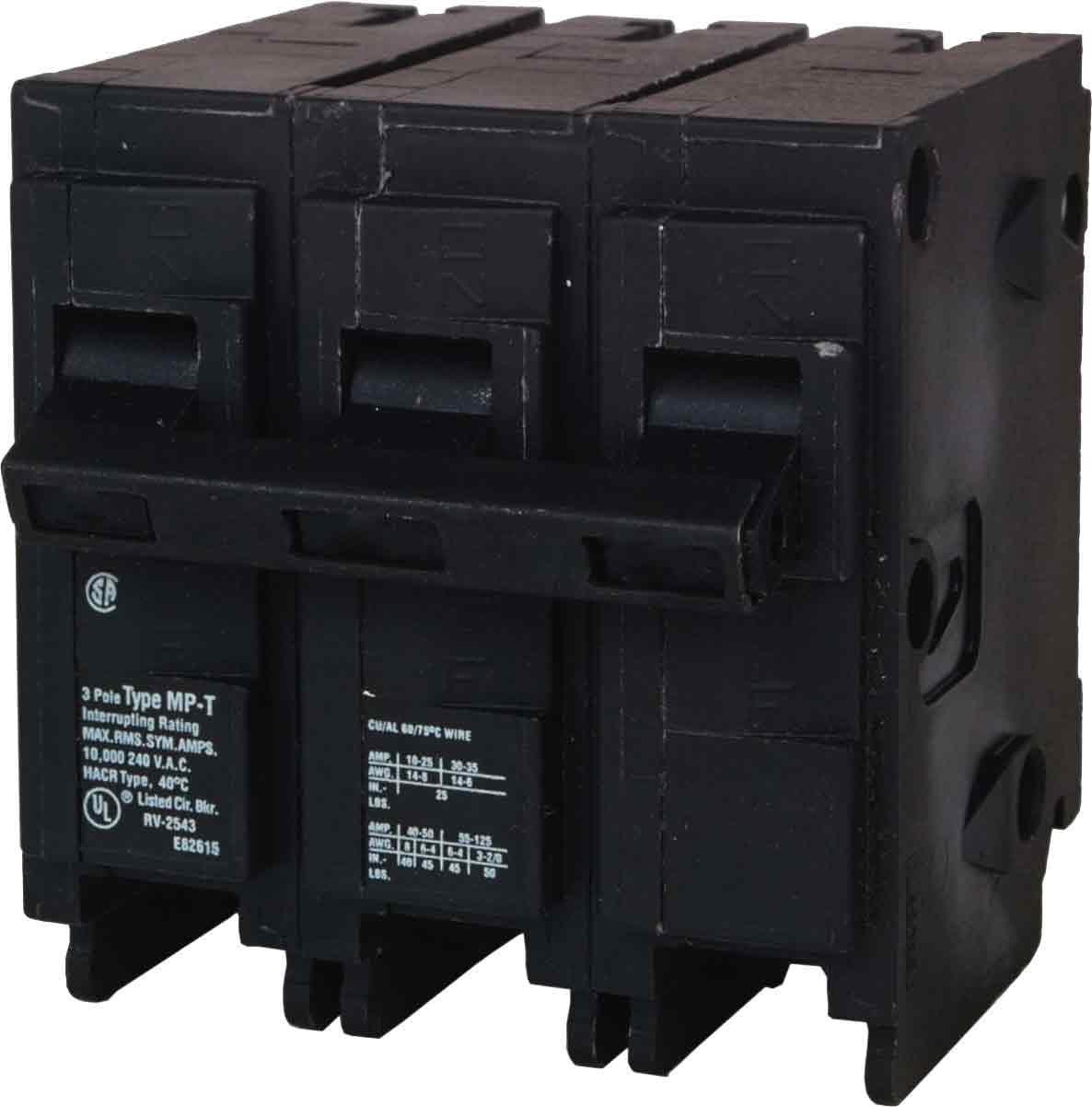 MP330 30-Amp Three Pole Type MP-T Circuit Breaker