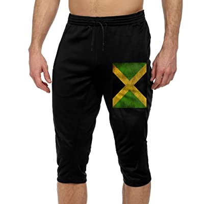 Shi Fu Flag Of Jamaica Men's Jogger Cropped Trousers Casual Sports Shorts Seven Minutes Pants Sweatpants Capri Pants