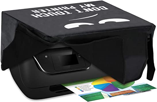 Kwmobile Hülle Kompatibel Mit Hp Officejet 3831 Drucker Staubschutzhülle Schutzhaube Schutzhülle Don T Touch My Printer Weiß Schwarz Bürobedarf Schreibwaren