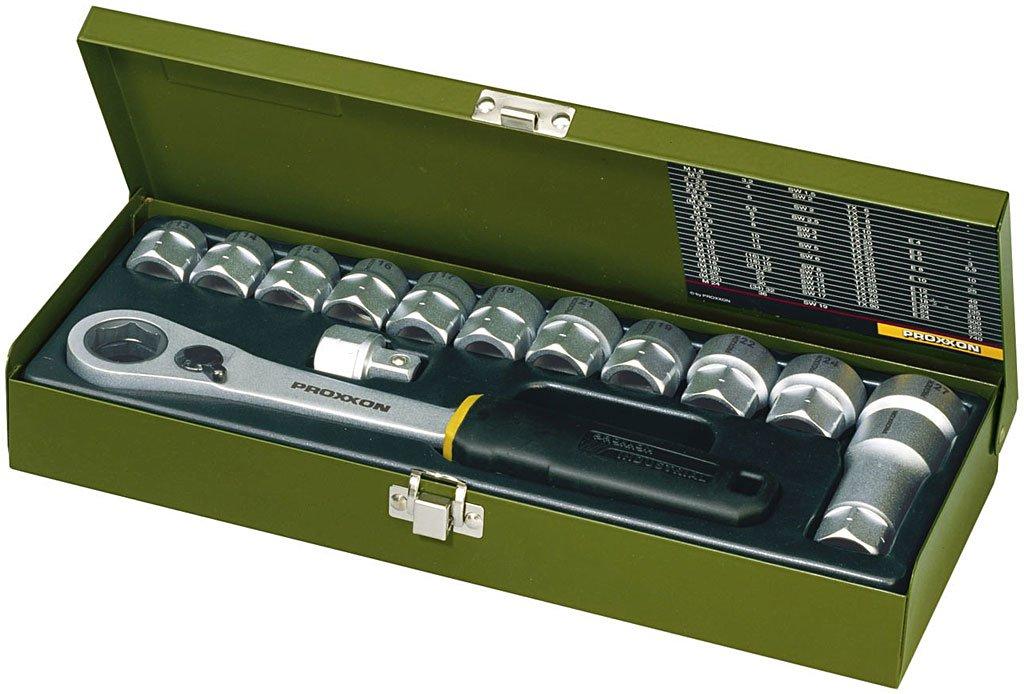 Proxxon 2223058 2223058-Llave articulada carraca 72d SW 21 mm