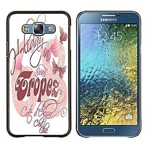 Dragon Case - FOR Samsung Galaxy E7 E7000 - makes you happy - Caja protectora de pl??stico duro de la cubierta Dise?¡Ào Slim Fit