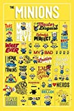 Despicable Me Infographic Maxi Poster, Wood, Multi-Colour