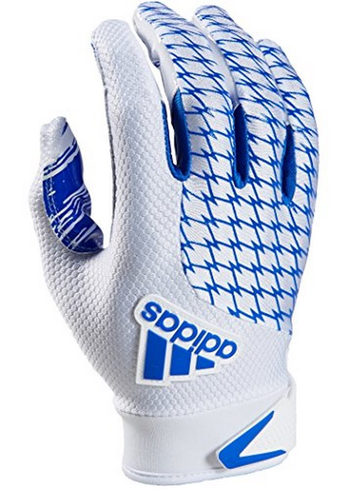 adidas Youth AdiFast 2.0 Receiver's Gloves, White/Royal, Small