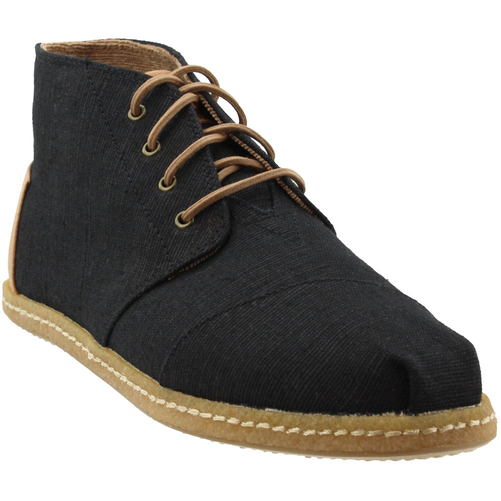 TOMS Men's Bota Black Heritage Canvas On Crepe 9 D US