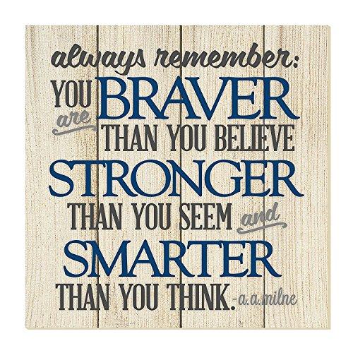 pottelove Always Remember You Are Braver Thank You Think Letrero De Pared 12x 12