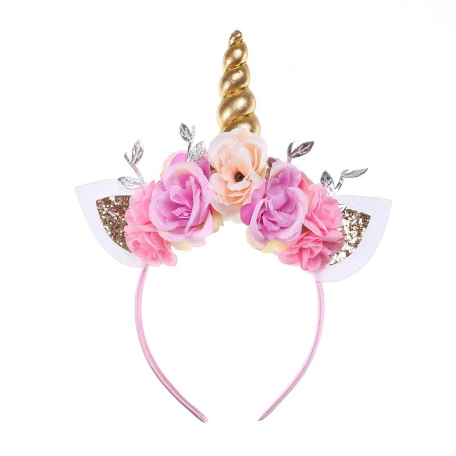 Unicorn Headband-Gold Unicorn Headband-Unicorn Headband Horn By Party Now