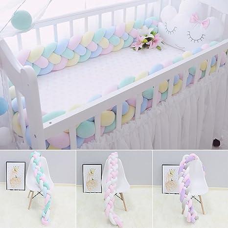 1-3M Nestchen Kopfschutz Knotenkissen Bettschlange Baby Farbe Babynestchen Blau