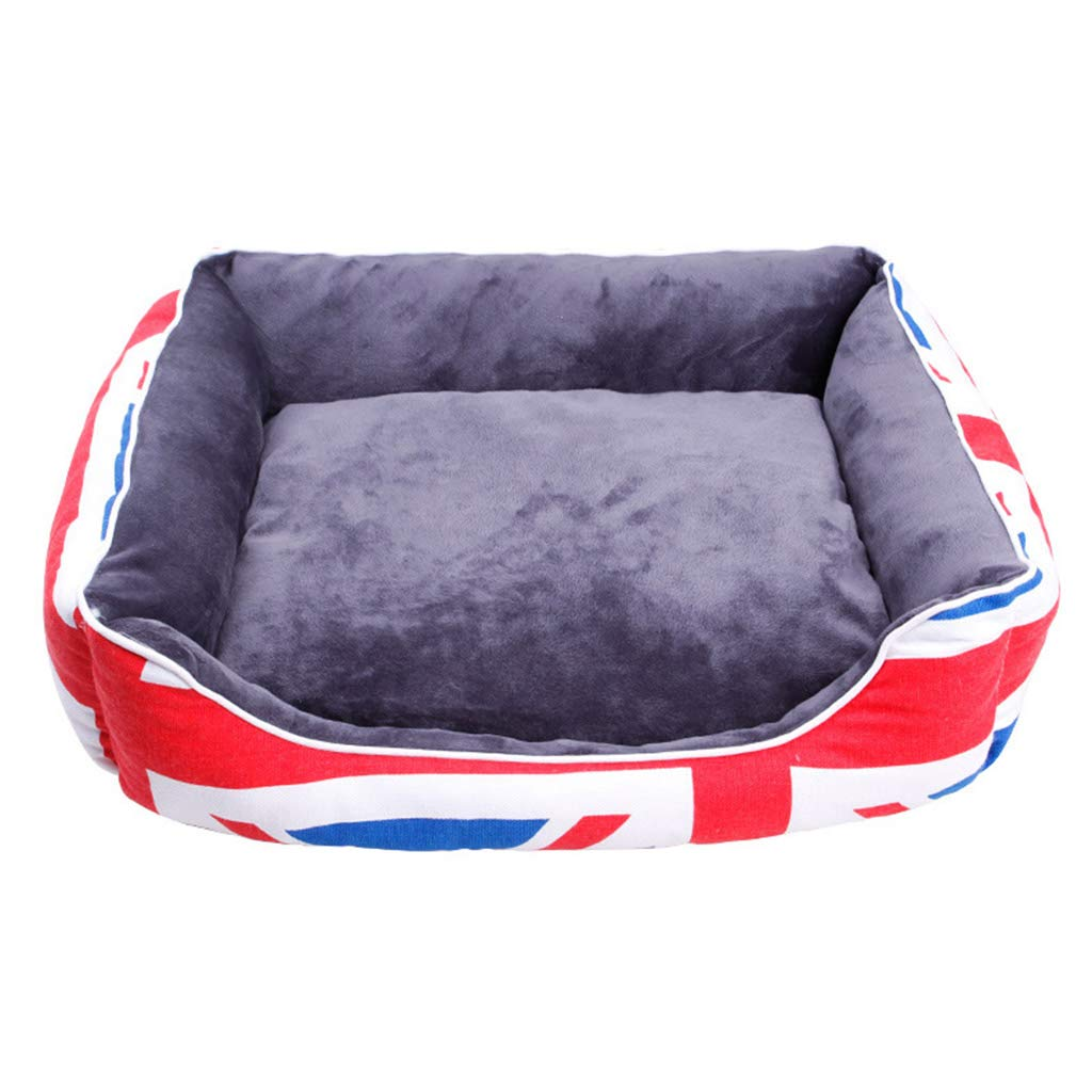 National flag MSile Pet Bed, Indoor Washable Pet Soft Cushion Moisture Proof Oxford Cloth Pet Sofa Comfortable Breathable SL021 (color   bluee, Size   M)