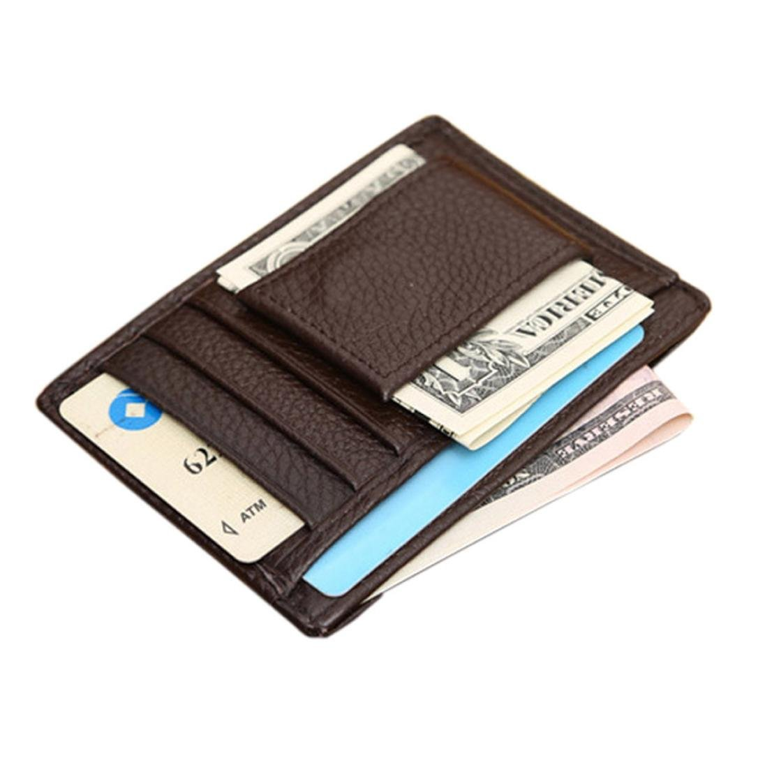 ABC® Mens Wallet Credit ID Card Holder Slim Purse