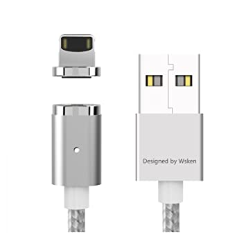 WSKEN Lightning Adaptador magnético mini2 LED USB Sync y Cable de Cargador rápido para Android Samsung/Apple iphone7 se 6 6S Plus iPad mini2 3 4 Air 2 ...