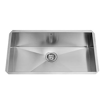 VIGO VG3219C 32 Inch Kitchen Sink Undermount 16 Gauge Single Bowl Stainless  Steel Kitchen Sink,