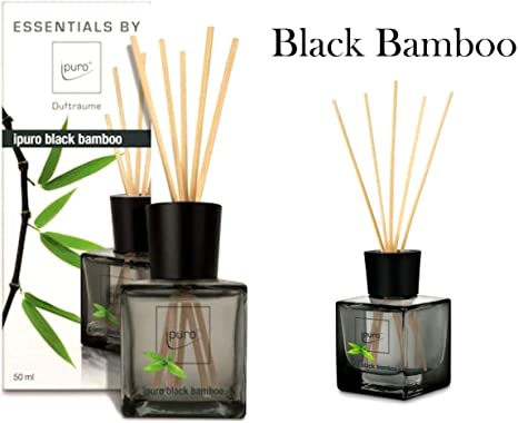 DIFFUSORE PROFUMATORE PROFUMO PER AMBIENTE iPURO BASTONCINI 50ml VARIE FRAGRANZE (Black Bamboo)