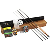 AnglerDream Caster 3/5/8WT Fly Fishing Combo 30T Carbon Fiber Fly Rod 3/4 5/6 7/8WT CNC Machined Fly Fishing Reel with…