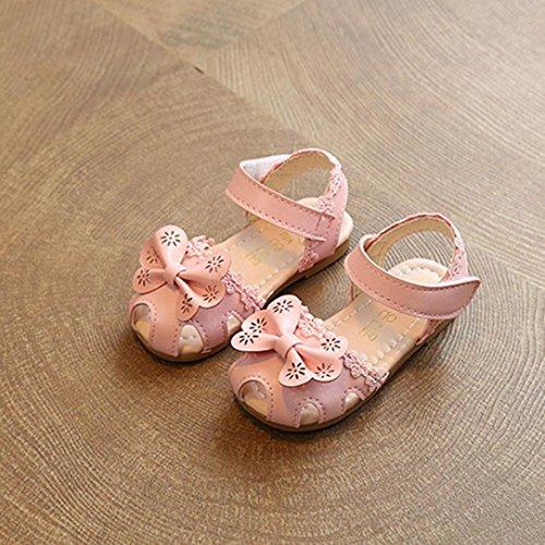 bobo4818 Ballerina Babyschuhe Baby Mädchen Krabbelschuhe Rutschsicheren Baby Schuhe Rosa