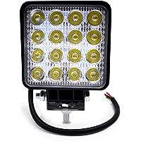 BeiLan Focos de Coche LED, 48W 12V / 24V Faros Led Trabajo Proyectores Luz de carretera Luz de trabajo auxiliar para…