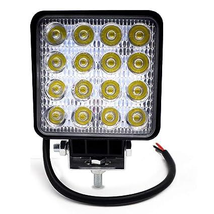 BeiLan Focos de Coche LED, 48W 12V / 24V Faros Led Trabajo Proyectores Luz de carretera Luz de trabajo auxiliar para trabajo fuera de carretera Barra ...
