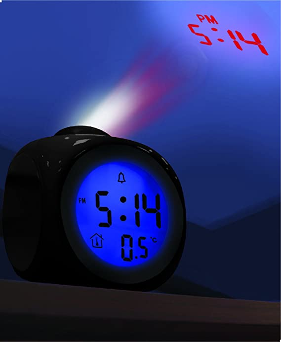 Amazon.com: Coby CBC-54-BLK Talking Alarm Clock with Led Projector (Black): Home Audio & Theater