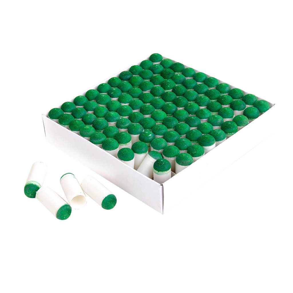 100 Pezzi di Spinta Sulle Punte Biliardo Stecca Bastone Slip-on Suggerimenti, 9mm/10mm Generic