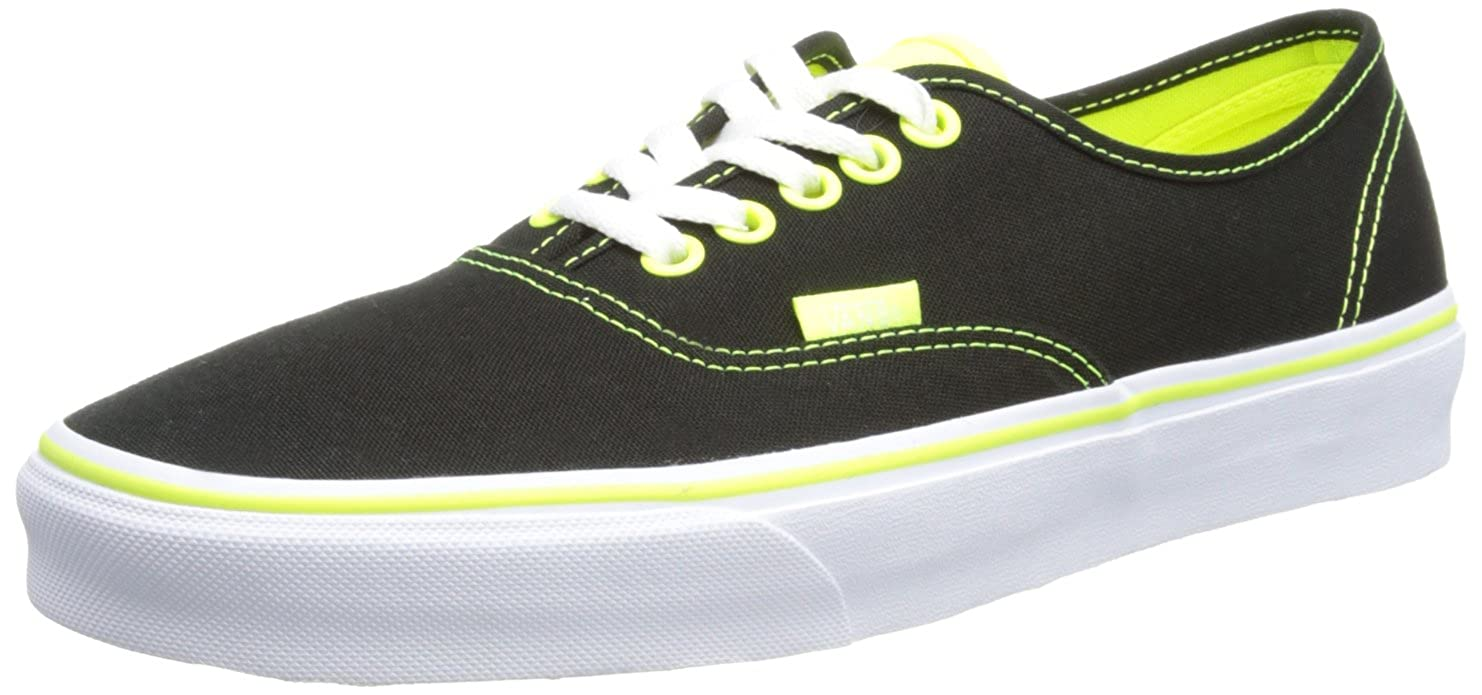 1f948d2702 Amazon.com  Vans Authentic Shoe - Black Neon Green (8)  Clothing