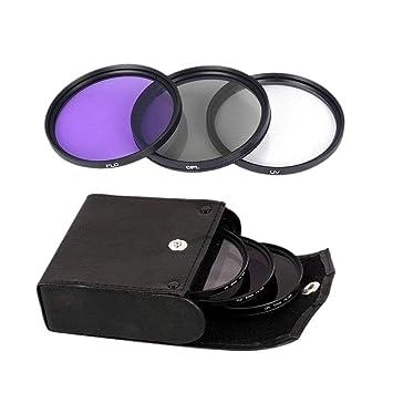 TOOGOO 49mm UV + Cpl + FLD Bolsa de Filtro de Lentes 3 En 1 para ...